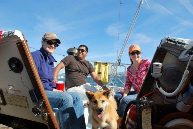 Lindsay, Erick, Koku and Natalie enjoying the warm San Diego sunshine.