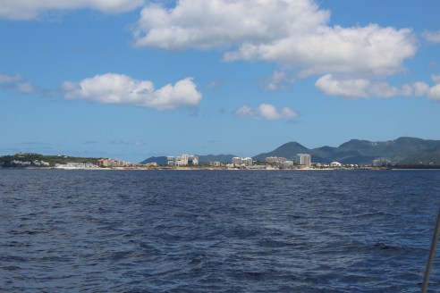 Approaching Simpson Bay