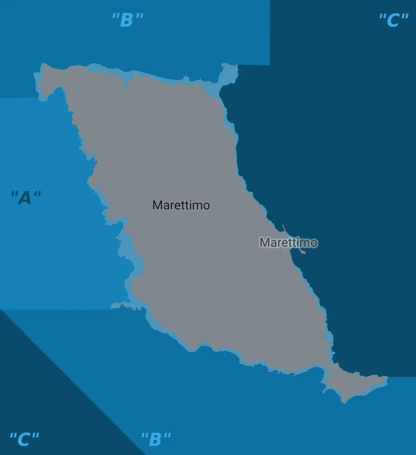 Marettimo mappa MP