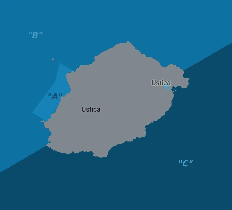 Ustica - Mappa Immersioni