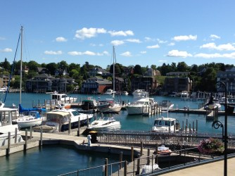 Beautiful Charlevoix Marina on Round Lake