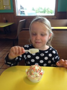Claire approved of Kewaunee Custard