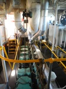 The three-level engine room