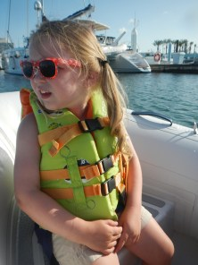 Claire's first dinghy ride
