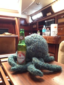 """Why did you knit me with wool? I'm so hot here! I need a beer."""