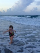 Chasing and running from the waves - endless fun!