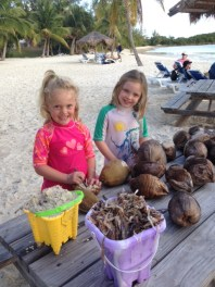 Marleigh and Claire's beachside coconut shop