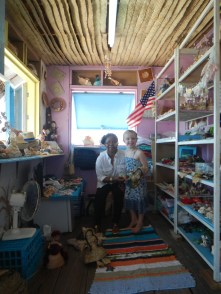 A little shop in the quaint Farmer's Cay settlement. Claire immediately fell in love with the shop owner, who was sweet as pie, let Claire play with anything in the store she wanted, and gave her cookies.