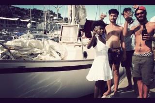 """Wir taufen zusammen mit Jesse und Phil unser Boot offiziell auf """"Marianne"""""""