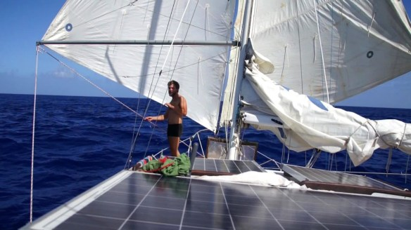 Double head sails – our fastest way of moving.