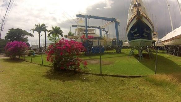 In Chaguaramas stehen auf dem Campingplatz keine Wohnwagen sondern hunderte Boote