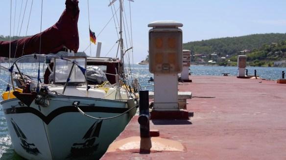 Marianne liegt sicher am etwas zu hohen Dock