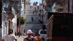 Da ist die Treppe noch mal in ganz