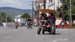 Wer sich kein Taxi leisten kann, fährt Kutsche