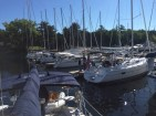 Saying goodbye to previous owners at Willsboro Bay Marina. (Sept. 7, 2014)