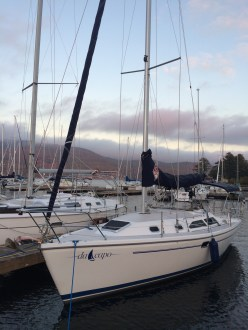 Early morning at Willsboro Bay Marina on October 3, 2014. Ready to haul for the winter!