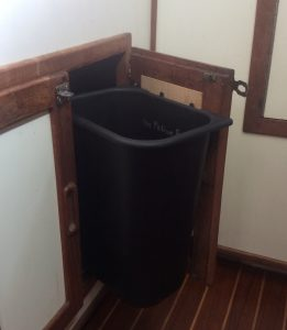 hanging trash can