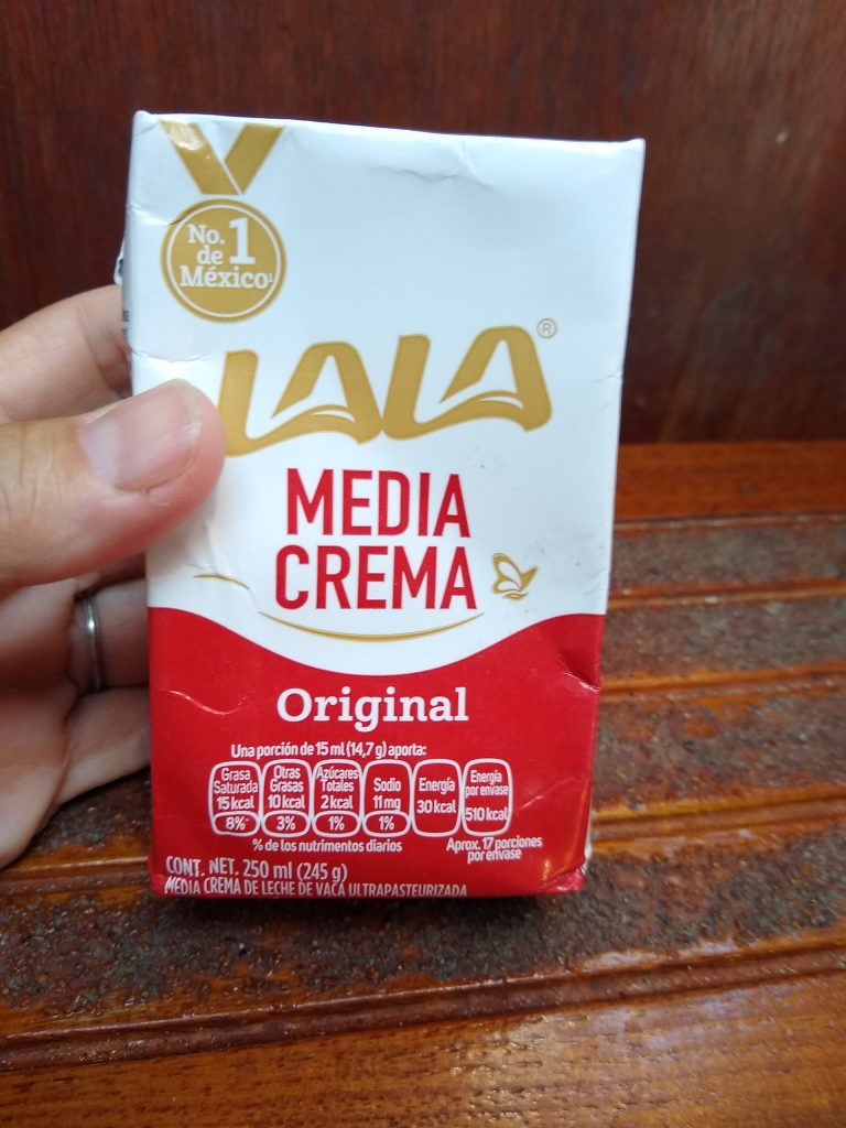 Mexican Sour Cream in UHT box