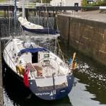 yacht in crinan canal