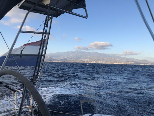 Zeilen varen atlantische oceaan oversteek kaap Verden zee tenerife