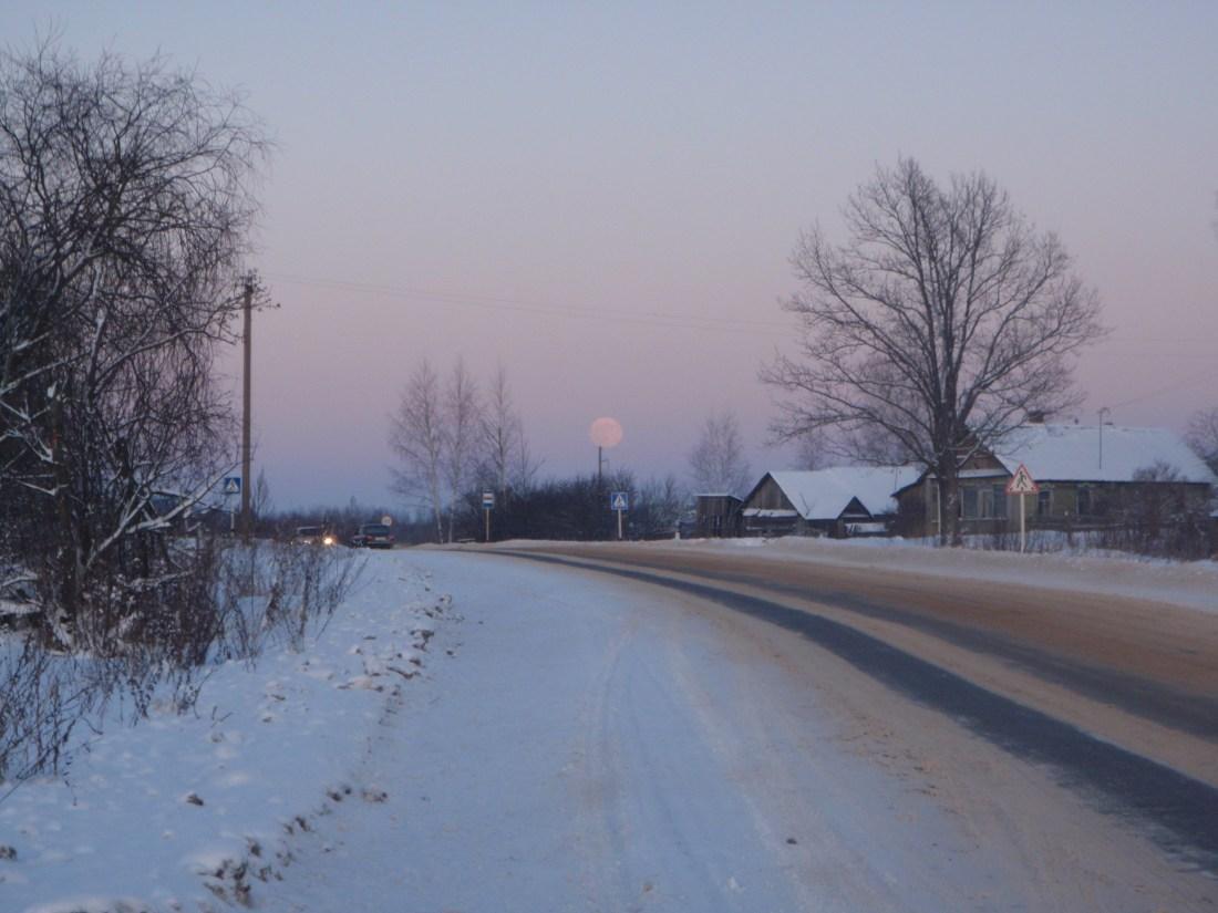 russian road in winter