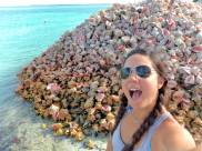 And here's me, clearly impressed with the giant pile of conch shells.