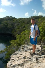JR at the blue hole.