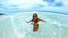 Playing with my fisheye lens at the beach!