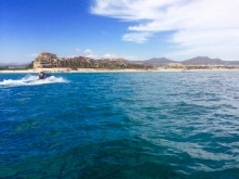 Jet skiers were a constant presence in Cabo San Lucas.