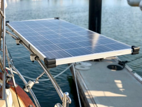 small resolution of new solar panels sailing juniper solar panels as well marine engines boat wiring help in addition solar