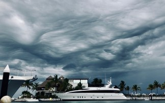 Typical summer afternoon weather in La Cruz.