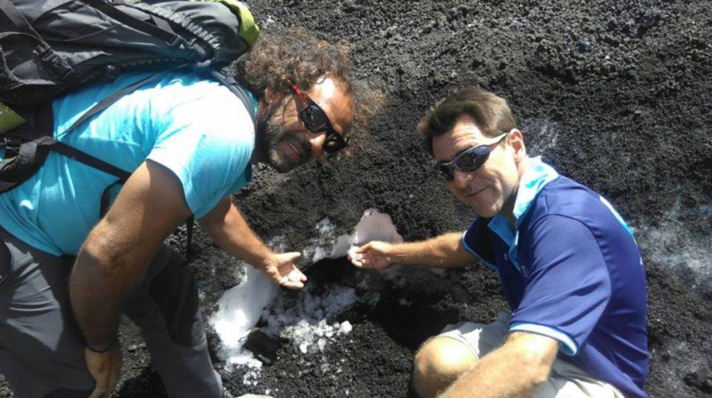 Carlos y Diego en el Etna