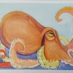 original watercolor octopus