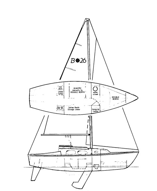 small resolution of this masthead sloop rig is a utilitarian marvel the hinged mast easily folds down for trailering the anchor chain stows in a locker