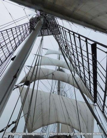 Looking up towards the main mast