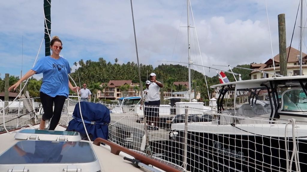 Puerto Bahia Marina: Samana, Dominican Republic. Docking our boat