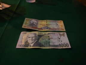 $150 Jamaican dollars would barely buy you a beer!