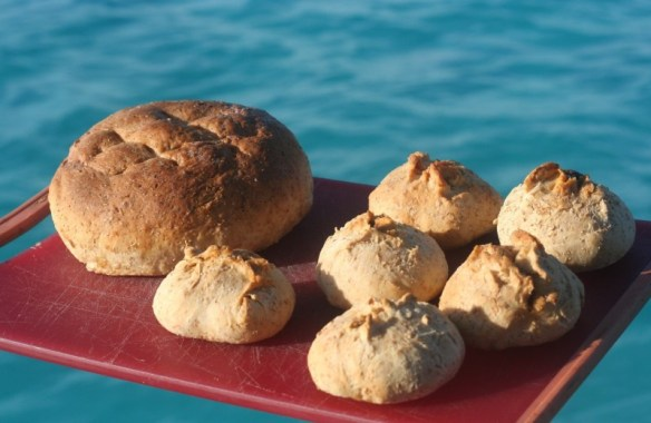 Wheat bread and stuffed rolls, yum!