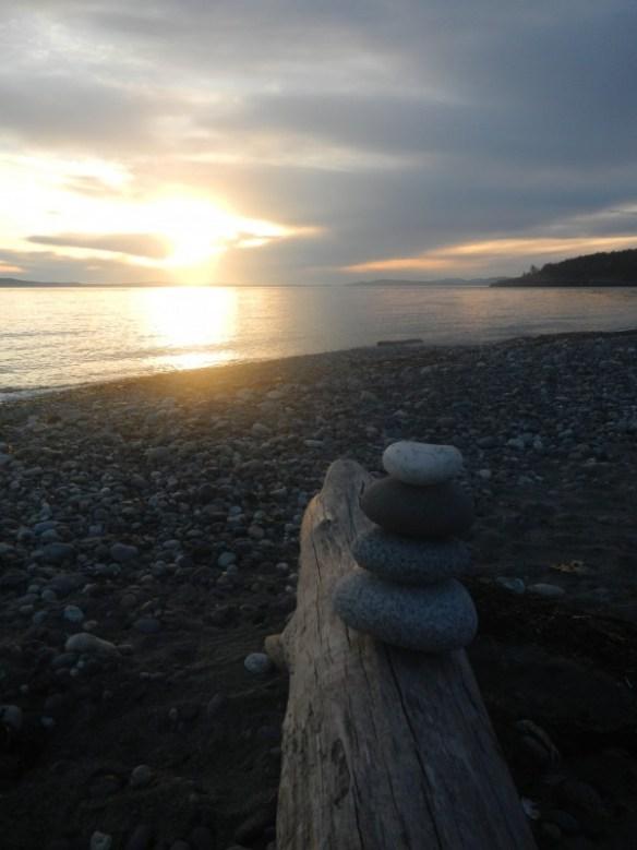 Rocky beach art