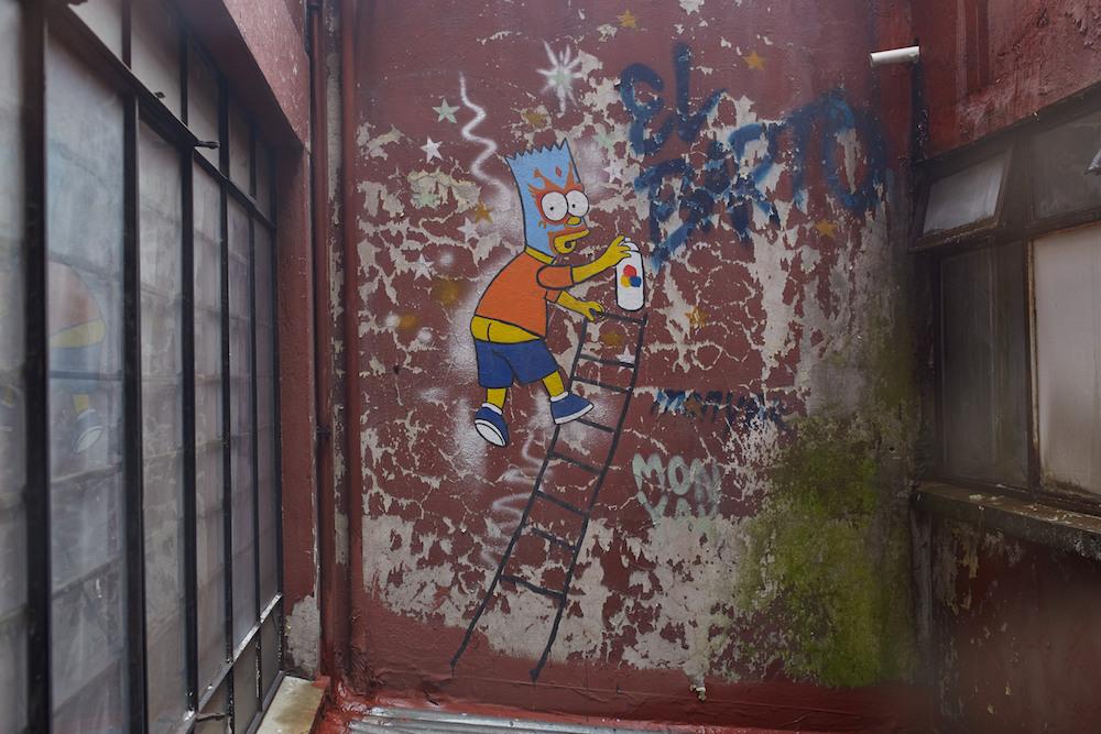 Bart Simpson Mexico Street Art