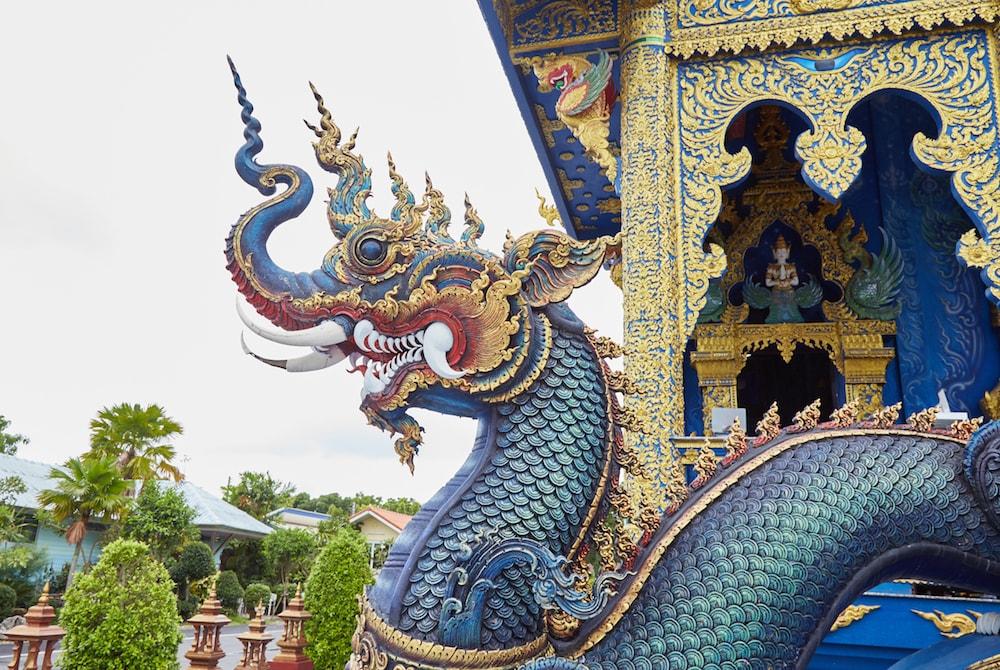 Blue Temple Naga Staircase