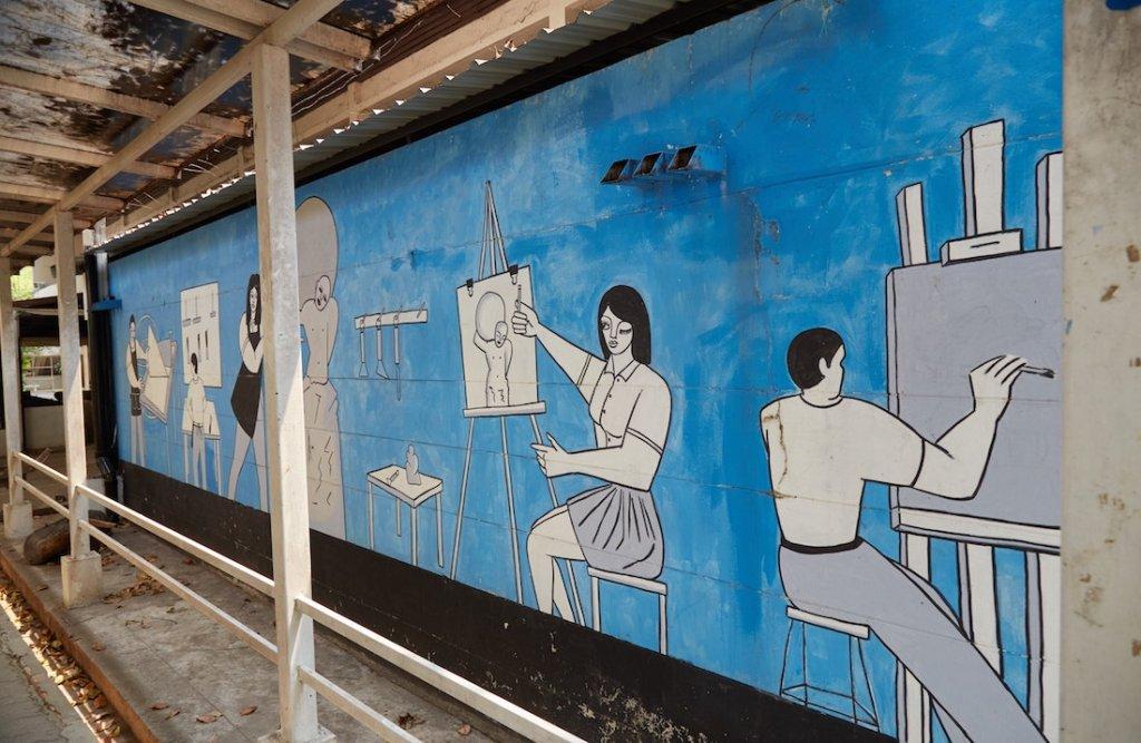 Rajamangala Chiang Mai Murals