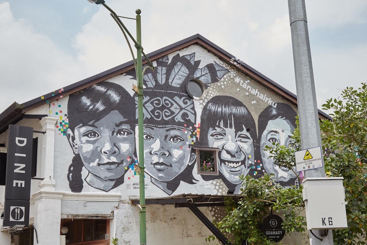 #tanahairku Murals Kuching