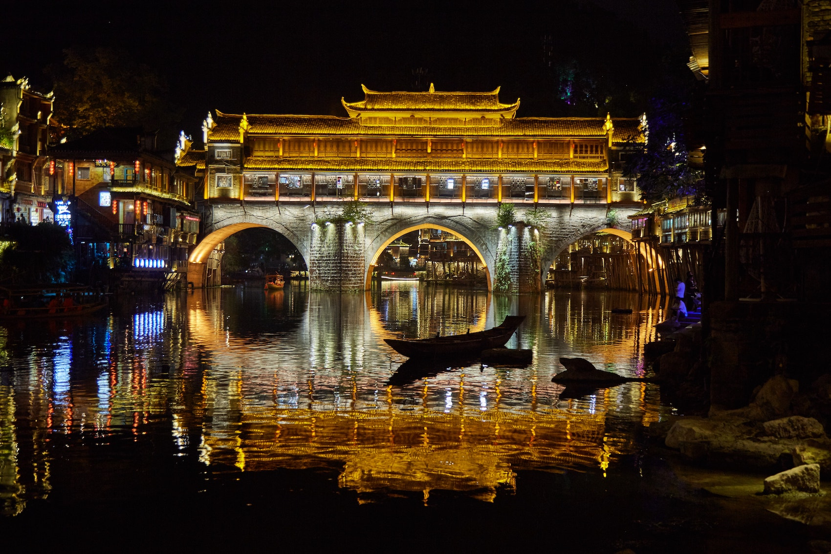 Fenghuang Ancient Town Night