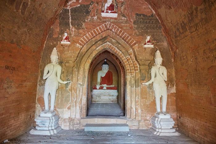 Bagan Small Pagoda Buddha