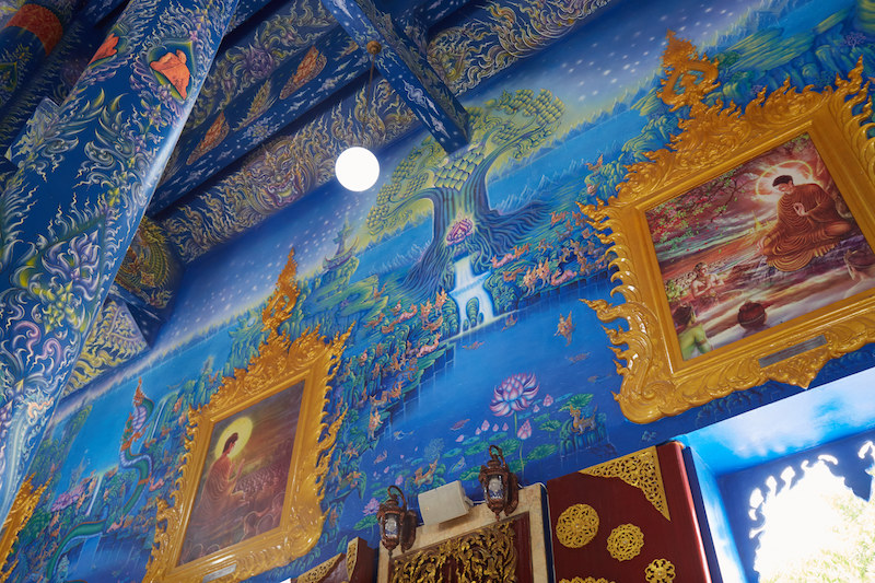 Chiang Rai Blue Temple Walls