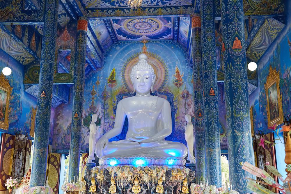 Blue Temple Buddha Lights Chiang Rai