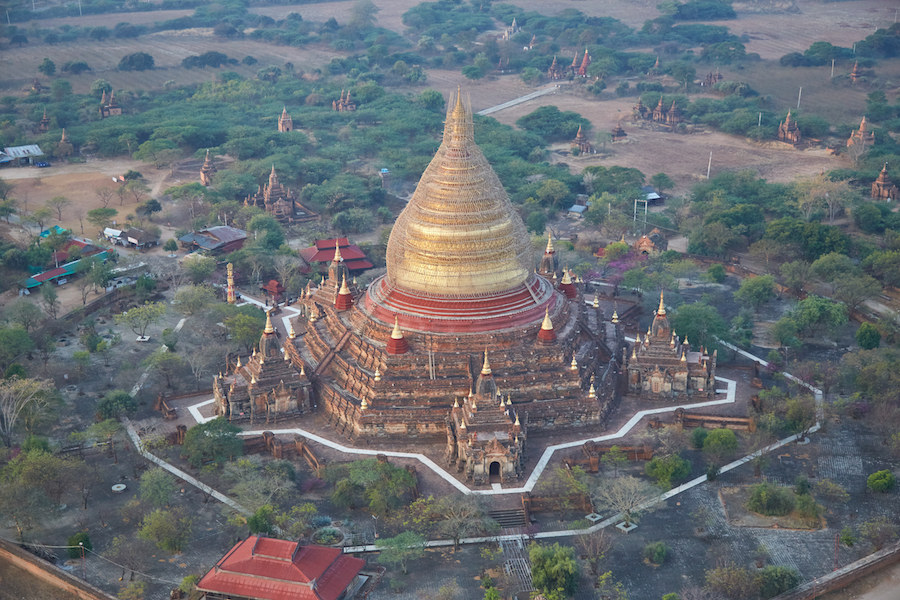 Bagan Five Sided Temple