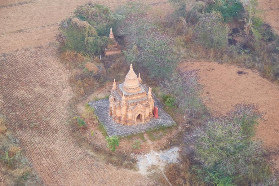 Bagan Small Pagoda Aerial
