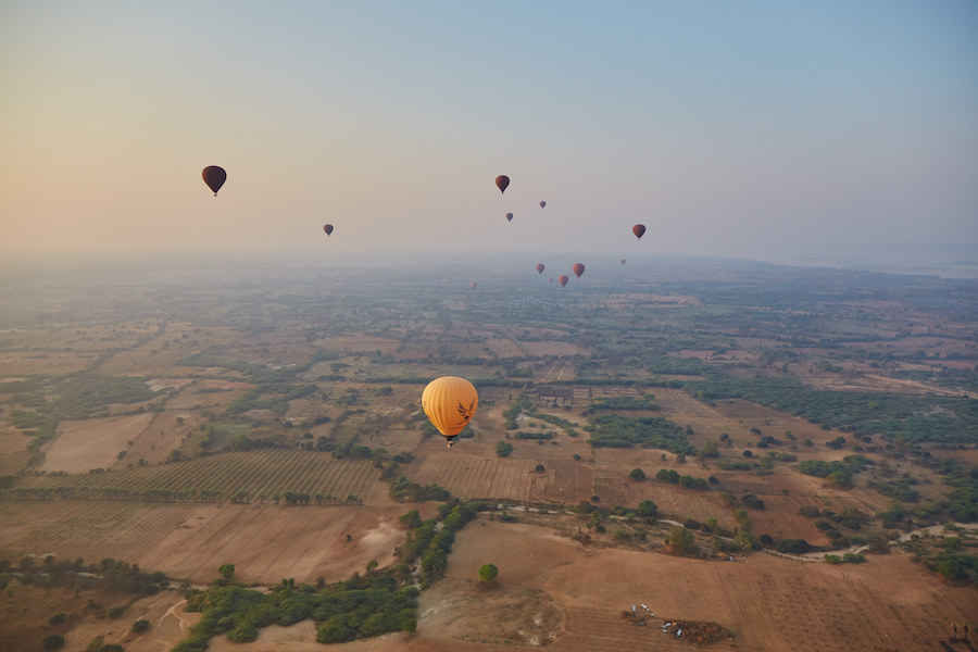 Hot Air Ballooning Over Bagan